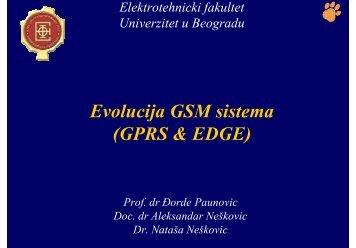 Evolucija GSM sistema (GPRS & EDGE) - Telfor