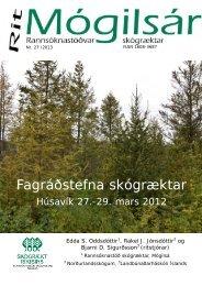 Fagráðstefna skógræktar, Húsavík 27.-29. mars ... - Skógrækt ríkisins