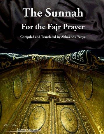 Miraath-Publications-The-Sunnah-for-the-Fajr-Prayer-2014