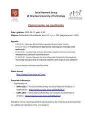 Zaproszenie na spotkanie - Instytut Informatyki