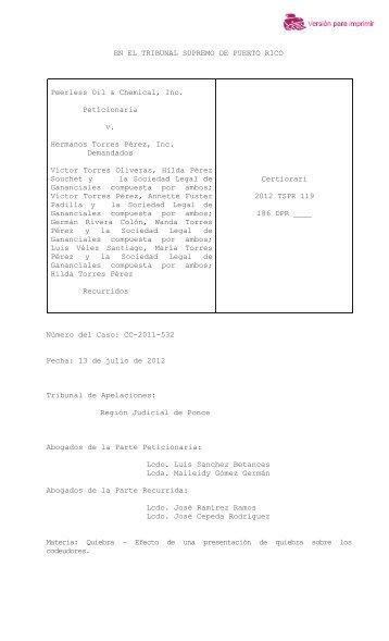 2012 TSPR 119 - Rama Judicial de Puerto Rico