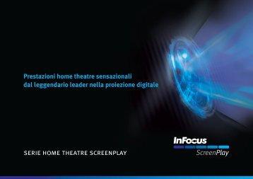 InFocus ScreenPlay Home Theatre Brochure (Italian)