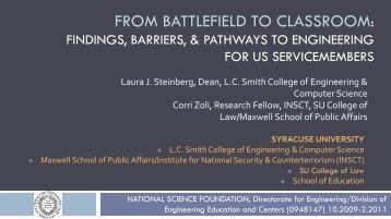 FROM BATTLEFIELD TO CLASSROOM: - insct - Syracuse University