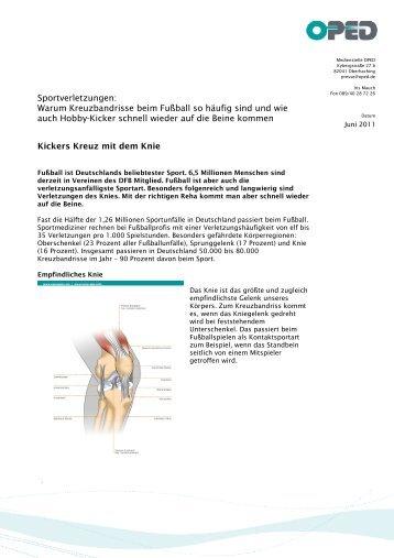 Sportverletzungen: Warum Kreuzbandrisse beim Fußball so ... - OPED