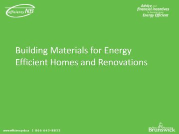 Building Materials for Energy Efficient Homes and Renovations