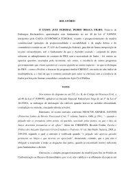 RELATÓRIO O EXMO. JUIZ FEDERAL PEDRO BRAGA FILHO ...