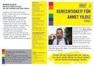 gerechtigkeit für ahmet yildiz - Amnesty International Österreich