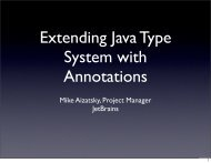Extending Java Type System with Annotations