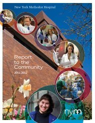 Report to the Community - New York Methodist Hospital