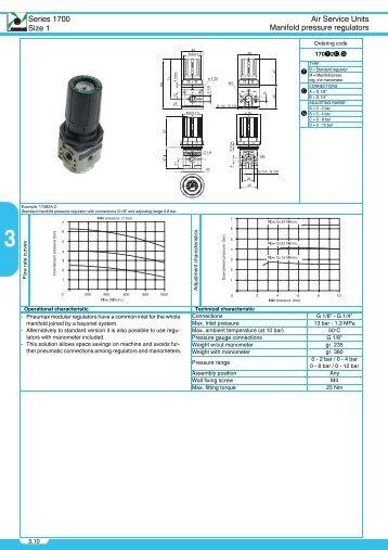 Series 1700 Size 1 Air Service Units Manifold pressure ... - Pneutec