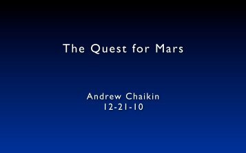 The Quest for Mars - InSight Cruises