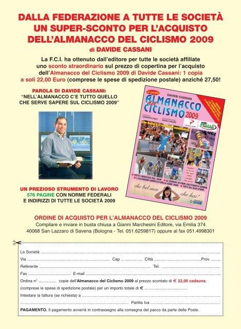 Calendario Trial 2009 - Federazione Ciclistica Italiana