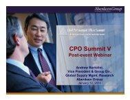 CPO Summit V - Summit - Aberdeen Group