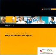 Schriftenreihe (Ausgabe 1) - Integration durch Sport
