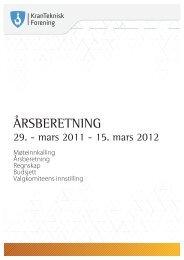Årsberetning 2011 - 2012 - Kranteknisk Forening