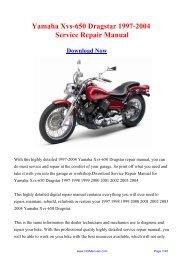 Yamaha Xvs-650 Dragstar 1997-2004 Service Repair Manual