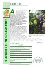 Newsletter: El ACNUR y el Medio Ambiente. Vol. 5, Numero 2, 2000