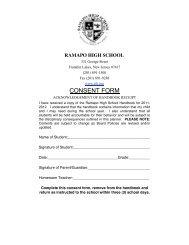 STUDENT/PARENT HANDBOOK 2011-2012 - Ramapo Indian Hills ...