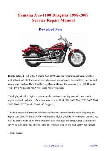 Yamaha Xvs-1100 Dragstar 1998-2007 Service Repair Manual
