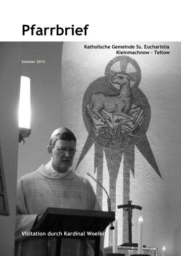 Pfarrbrief Sommer 2013 - Katholische Pfarrgemeinde Sanctissima ...
