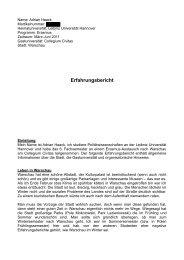 Erfahrungsbericht - Leibniz Universität Hannover