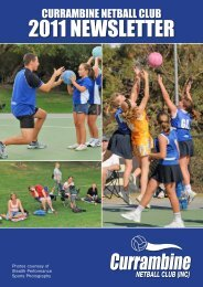 April Newsletter - Currambine Netball Club