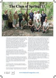 Review from Bushcraft Magazine editor Steve ... - Woodcraft School