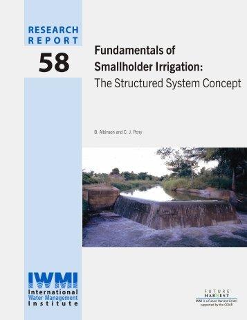 Fundamentals of Smallholder Irrigation - International Water ...