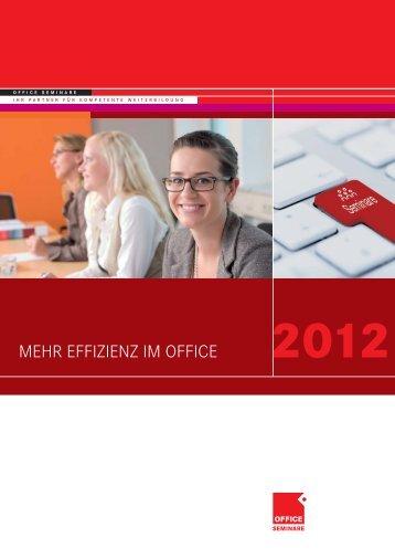 Effizienz im Office 2012 - OFFICE SEMINARE