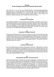 Satzung für die Freiwillige Feuerwehr der Gemeinde Winsen (Aller)