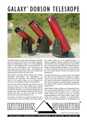 GALAXY® DOBSON TELESKOPE - Intercon Spacetec