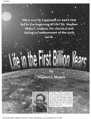 3. #Mojzsis, S.J. (2004) Life in the first billion years. Journal of High ...