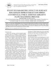 study of parametric effect on surface roughness improvement for ...