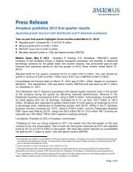 Amadeus publishes 2012 first quarter results - Investor relations at ...