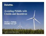 Avoiding Pitfalls with Credits and Incentives - Deloitte