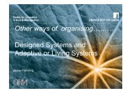 Designed Systems and Adaptive or Living Systems