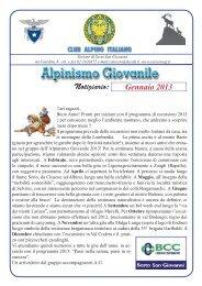 Gennaio 2013.indd - CAI - sezione di Sesto San Giovanni