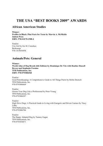 "THE USA ""BEST BOOKS 2009"" AWARDS - USA Book News"