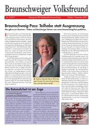 Braunschweiger Volksfreund Ausgabe 2007-3 - Klaus-Peter ...