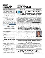 Sierran - Sierra Club – Ohio Chapter