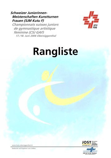 Frauen Einzel Rangeliste - KUTU - Obersiggenthal