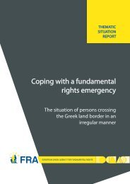 Coping with a fundamental rights emergency - The situation of ...