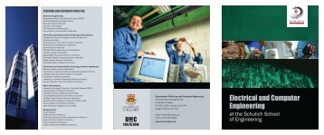 Electrical and Computer Engineering - The Schulich School of ...