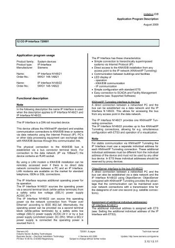 Application program usage Functional description Note ... - IQmarket