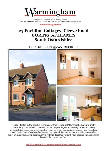 23 Pavillion Cottages, Cleeve Road GORING on ... - Warmingham