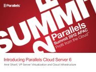 Introducing Parallels Cloud Server 6