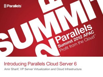Introducing Parallels Cloud Server 6