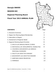 dbhdd region one planning board - Department of Behavioral Health ...