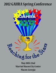 2012 GAHRA Spring Conference - Georgia Association of Housing ...