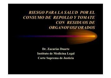riesgo para la salud por el riesgo para la salud por ... - Poder Judicial